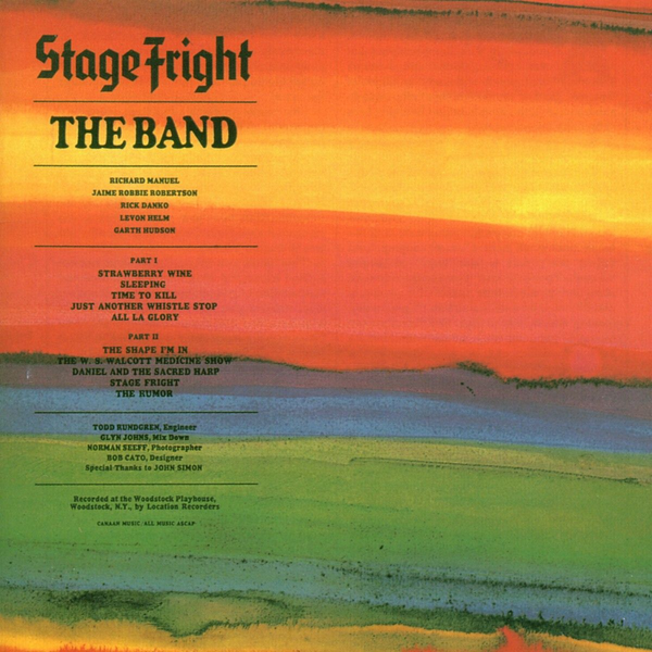 Band,The - Stage Fright