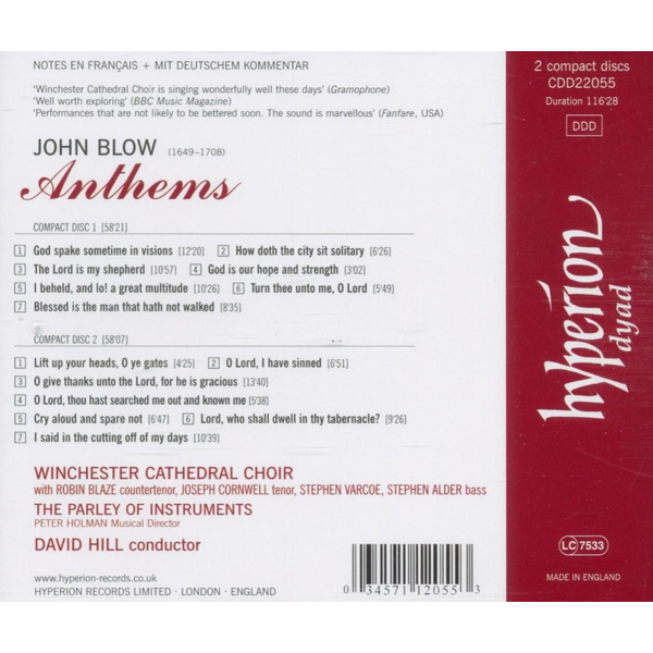 Winchester Cathedral Choir - Anthems