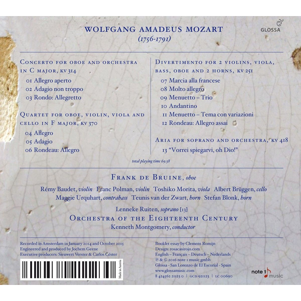 Mozart, Wolfgang Amadeus - Wolfgang Amadeus Mozart: The Oboe Concerto; Other Works for Oboe