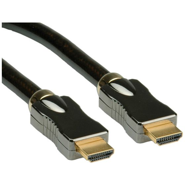 Rotronic - ROLINE HDMI Ultra HD Cable with Ethernet, M/M 1 m, 1 m, HDMI Type A (Standard), HDMI Type A (Standard), 3D, Black