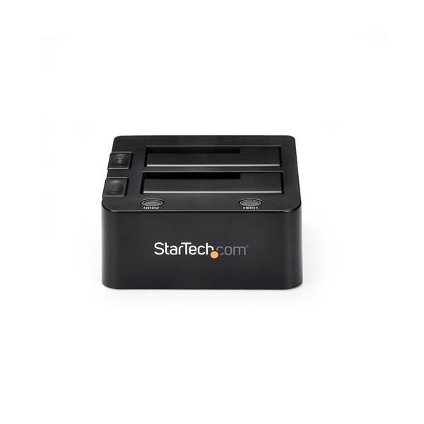 - StarTech.com USB 3.0 Dual Hard Drive Docking Station with UASP for 2.5/3.5in SSD / HDD – SATA 6 Gbps