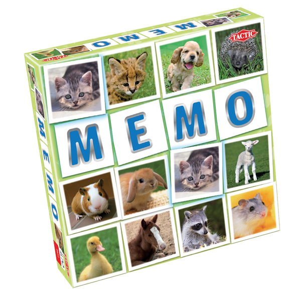 - Tactic Animal Babies Memo Children Game of chance