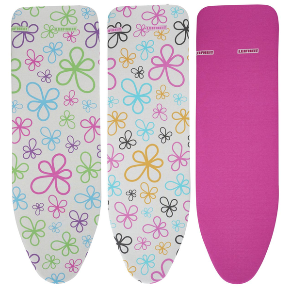 - LEIFHEIT Cotton Classic M Ironing board padded top cover Pink, White