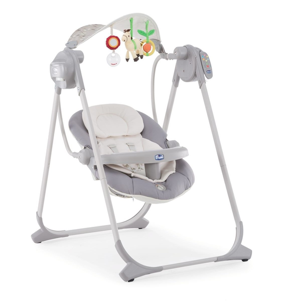 Chicco Polly Swing Up baby rocker/bouncer Grey