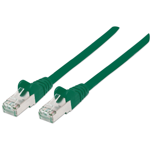 Intellinet - Intellinet Network Patch Cable, Cat6A, 0.5m, Green, Copper, S/FTP, LSOH / LSZH, PVC, RJ45, Gold Plated Contacts, Snagless, Booted, Lifetime Warranty, Polybag