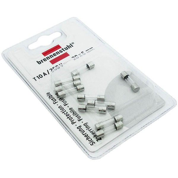- Brennenstuhl 1150010 safety fuse Cylindrical 10 A 10 pc(s)