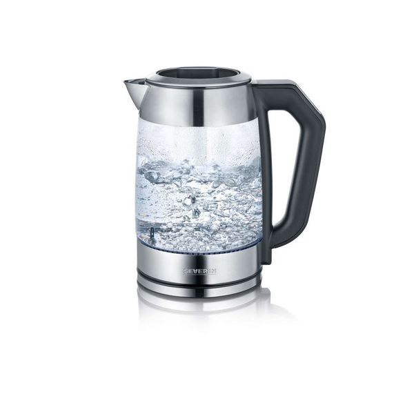 Severin - Severin WK 3477 electric kettle 1.7 L 2200 W Black, Silver, Transparent