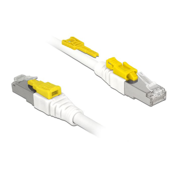 Delock - DeLOCK 85330 networking cable White 0.5 m Cat6a S/FTP (S-STP)
