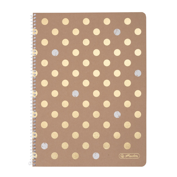 - Herlitz Pure Glam writing notebook A4 80 sheets Gold