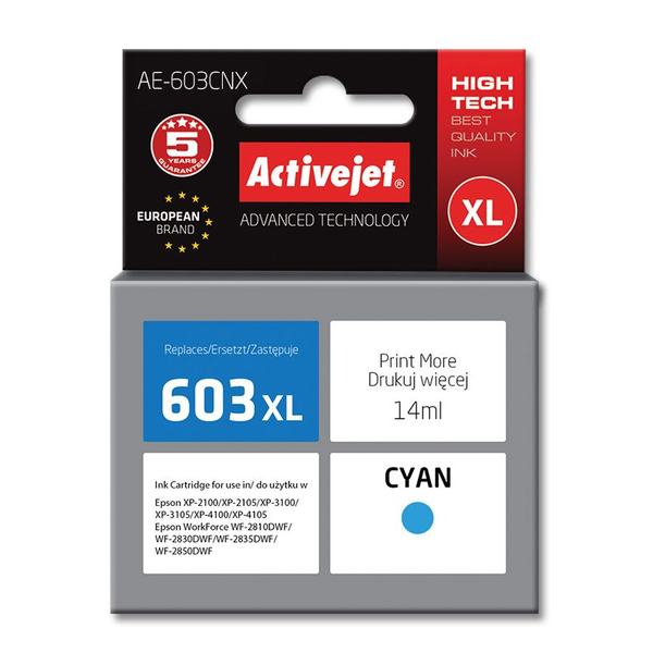 - Activejet ink cartridge for Epson 603XL AE-603CNX