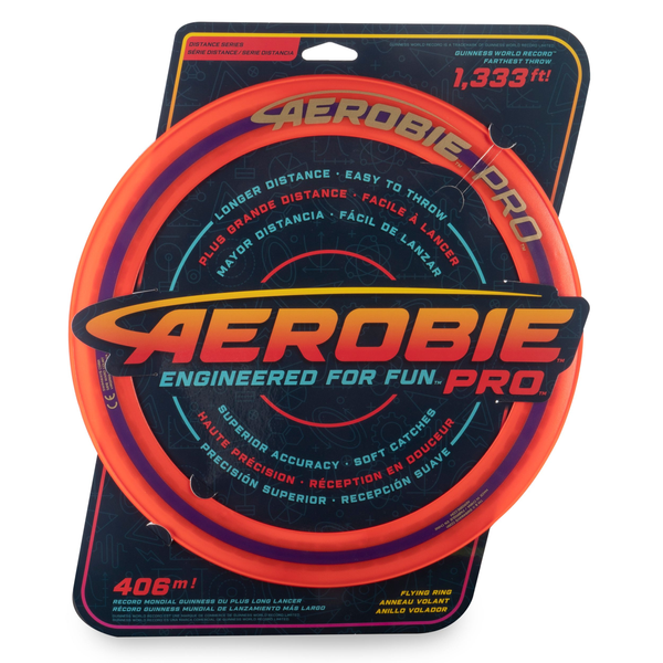 - Aerobie Pro Ring Outdoor Flying Disc, 14 inches, Orange