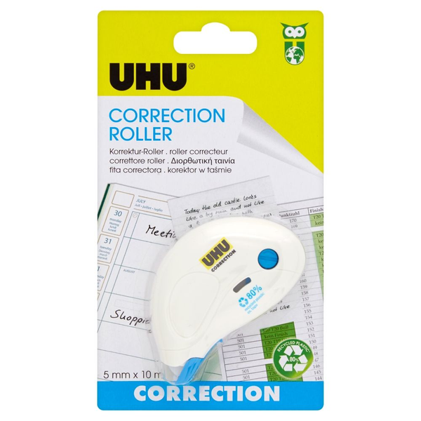 - UHU Roller Compact correction tape 10 m White 1 pc(s)