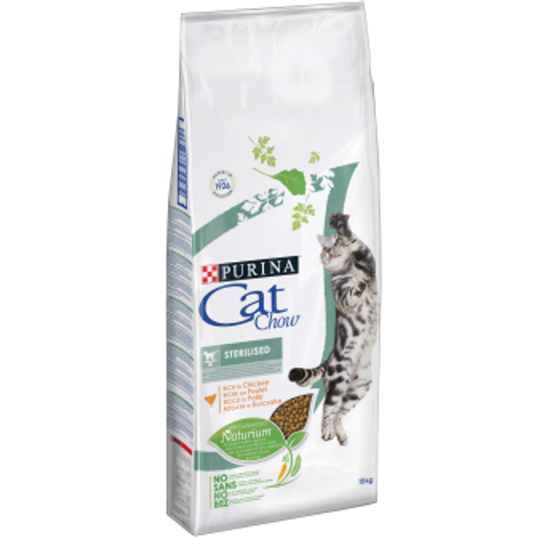 PURINA NESTLE - Purina CAT CHOW STERILISED cats dry food 1.5 kg Adult Chicken