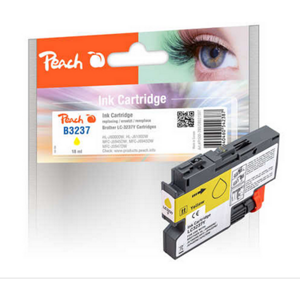 Peach - Peach 321007 ink cartridge 1 pc(s) Compatible Yellow
