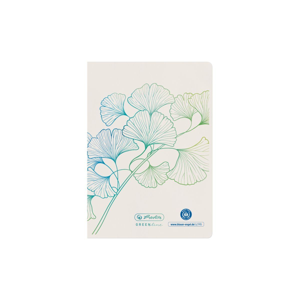 - Herlitz GREENline writing notebook A6 32 sheets White