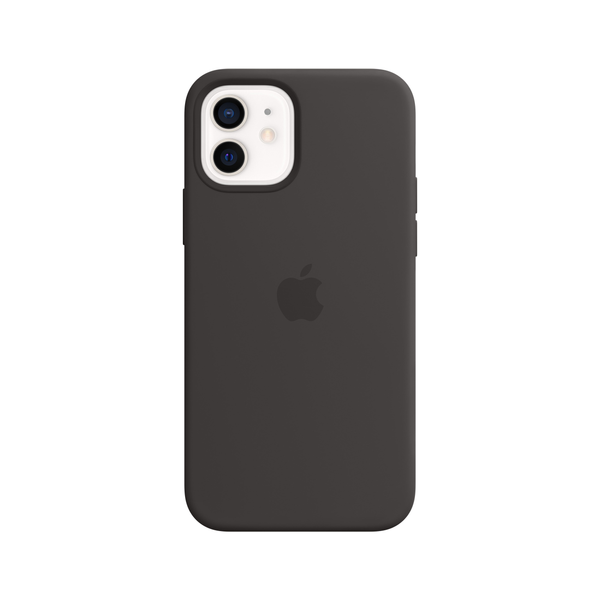 Apple - Apple iPhone 12   12 Pro Silicone Case with MagSafe - Black