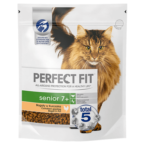 - Perfect Fit Senior 7+ cats dry food 750 g Adult Chicken