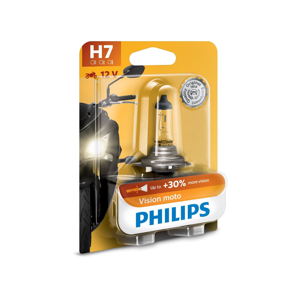 - Philips Vision Moto Type of lamp: H7 Pack of: 1 Motorcycle headlights