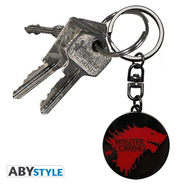 - ABYstyle Game Of Thrones Winter is coming Keychain Metallic