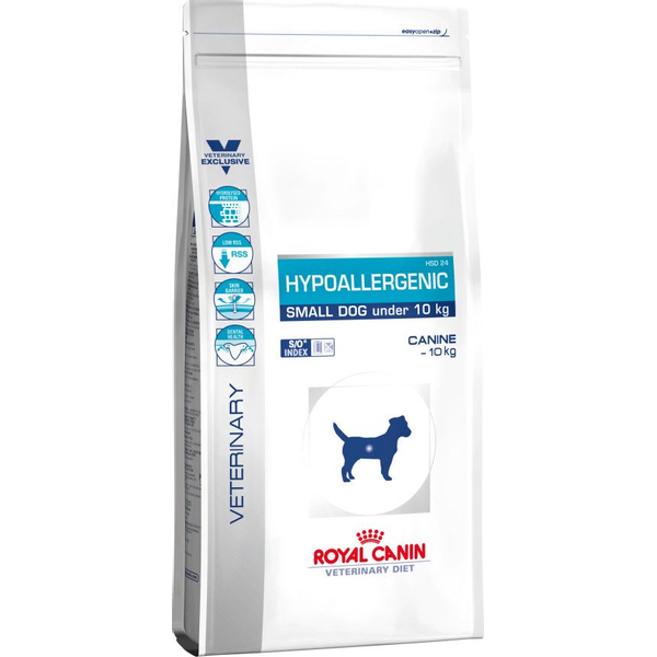 - Royal Canin Hypoallergenic Small Dog, Erwachsener, 3,5 kg, Mini (5 - 10 kg), X-Small (<4kg), Vitamin A, Vitamin B1, Vitamin B12, Vitamin B2, Vitamin B3, Vitamin B5, Vitamin B6, Vitamin B9..., Zahnpflege, Diarrhea, Verdauungspflege, Reis, Soja (hydrolysiert), Tierfett, Mineralstoffe, Geflügelleber (hydrolysiert), Sojaöl,...