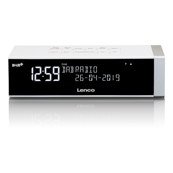 Lenco CR-630-DAB+ Clock Digital White