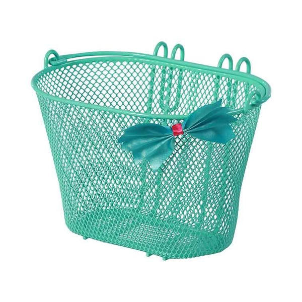 Basil - Basil Jasmin Bow-tie Front Bicycle basket Steel Mint colour