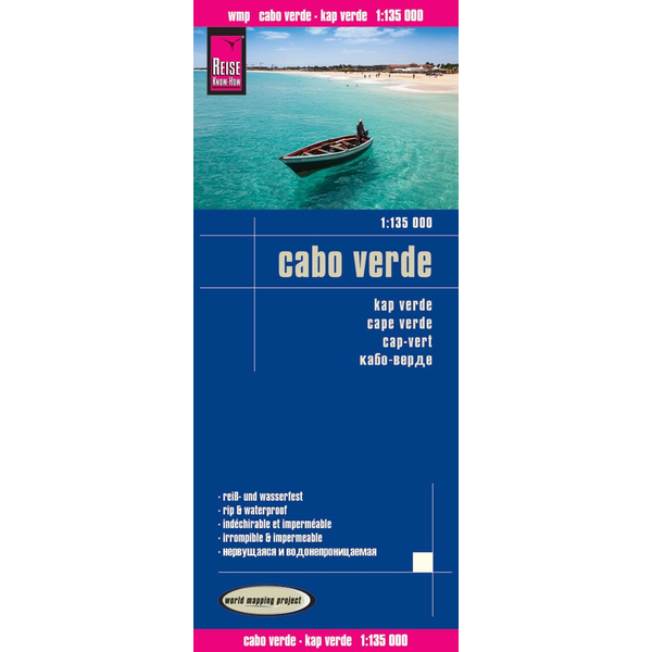 Reise Know-How Verlag Reise Know-How Verlag Peter Rump - Reise Know-How Landkarte Cabo Verde (1:135.000) - world mapping project