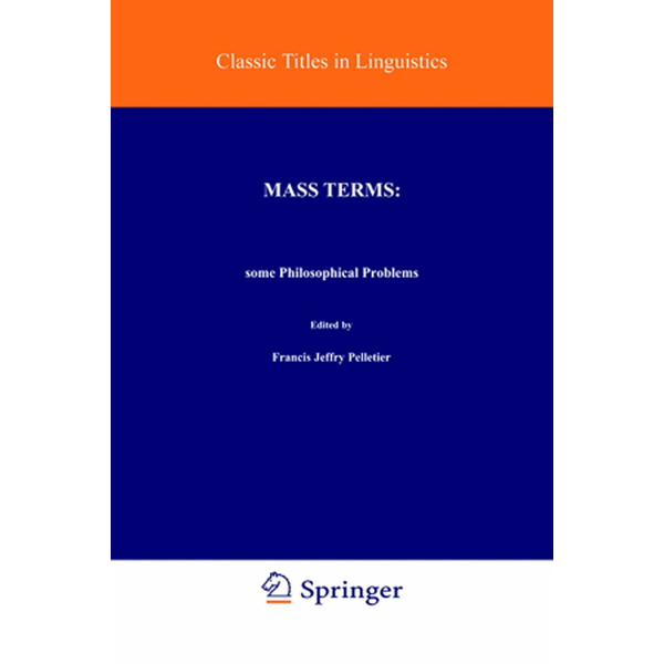 Springer Netherland - Mass Terms: Some Philosophical Problems