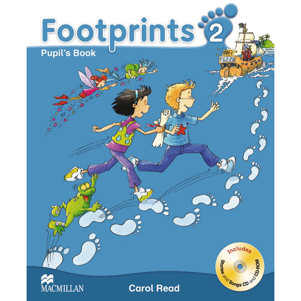 Carol Read - Footprints 2 - Pupil's Book with Audio-CD + CD-ROM and Portfolio Booklet
