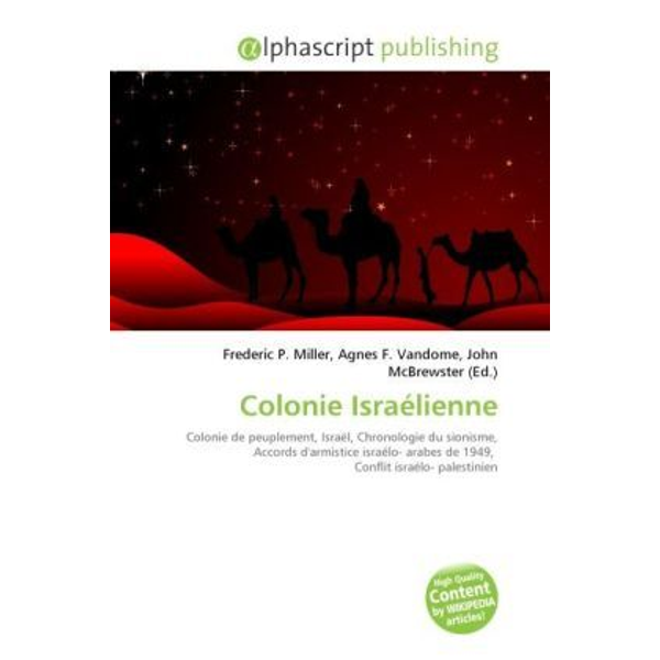 Alphascript Publishing - Colonie Israélienne