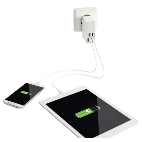 - Esselte 62190001 mobile device charger White Indoor