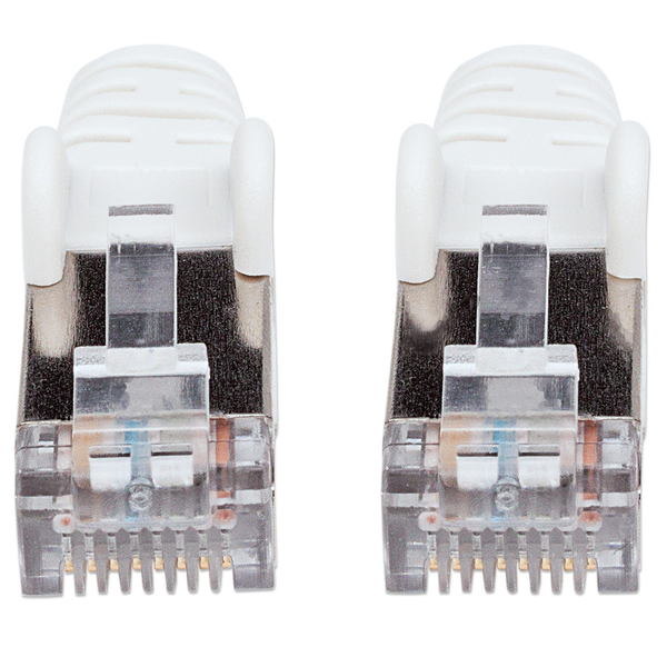 Intellinet - Intellinet Network Patch Cable, Cat6, 1m, White, Copper, S/FTP, LSOH / LSZH, PVC, RJ45, Gold Plated Contacts, Snagless, Booted, Polybag