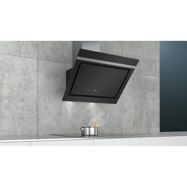 - Siemens LC87KIM60 cooker hood Wall-mounted Black, Stainless steel 670 m³/h A