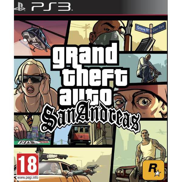 - Sony Grand Theft Auto: San Andreas, PS3 Standard PlayStation 3