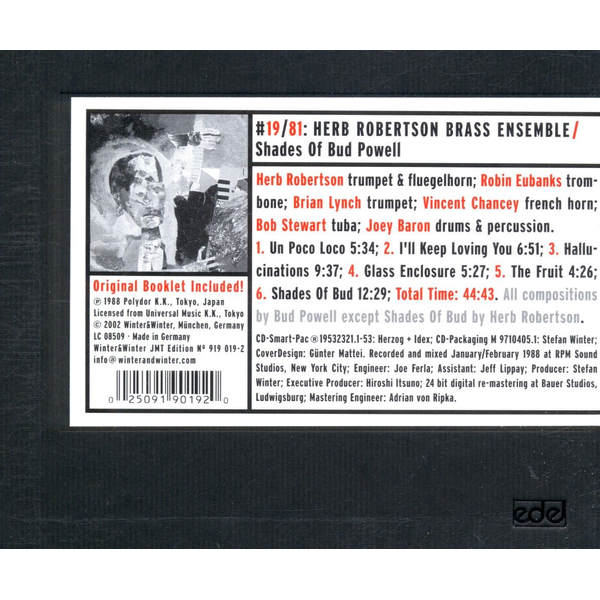 Robertson,Herb - Shades of Bud Powell