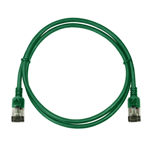 - LogiLink CQ9055S networking cable Green 2 m Cat6a S/UTP (STP)