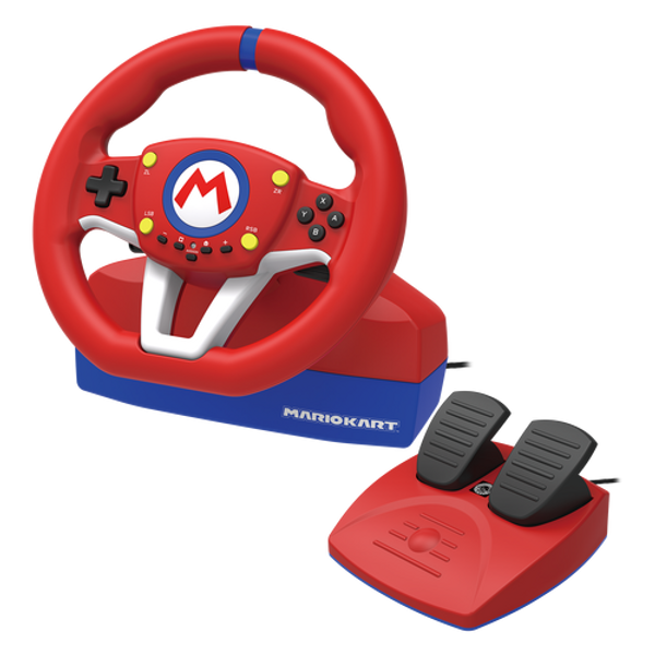 FLASHPOINT - Hori NSW-204U Gaming Controller Black, Blue, Red, White USB Steering wheel + Pedals Analogue Nintendo Switch