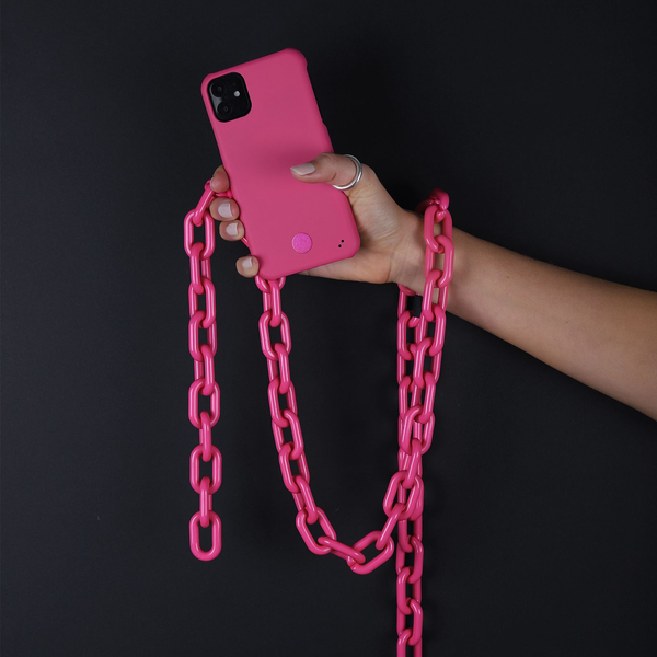 """Holdit - HoldIt Connect Fluorescent mobile phone case 11.9 cm (4.7"""") Cover Pink"""