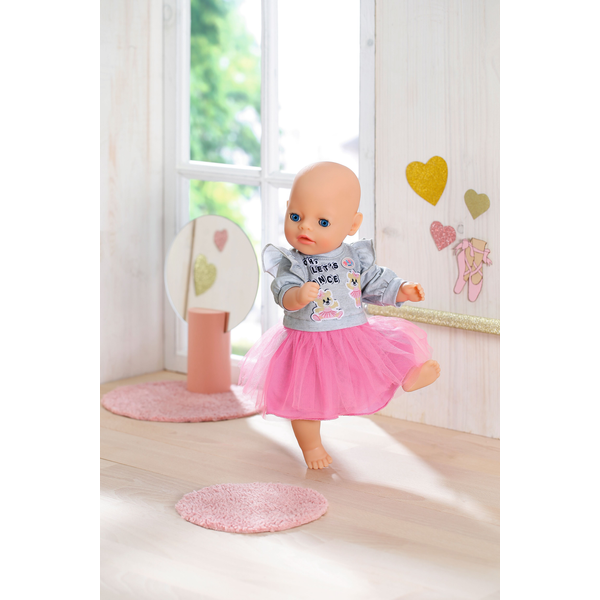- BABY born Little Casual Outfit pink Doll dress