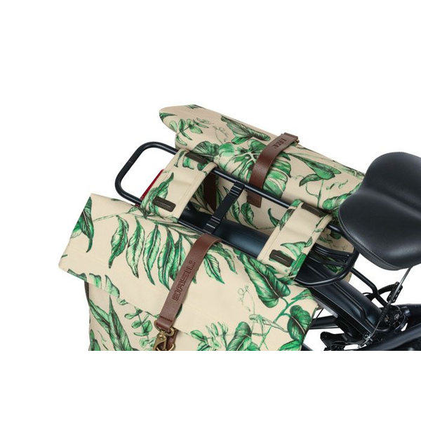 Basil - Basil Ever-Green Rear Bicycle bag 28 L Polyester Beige, Green