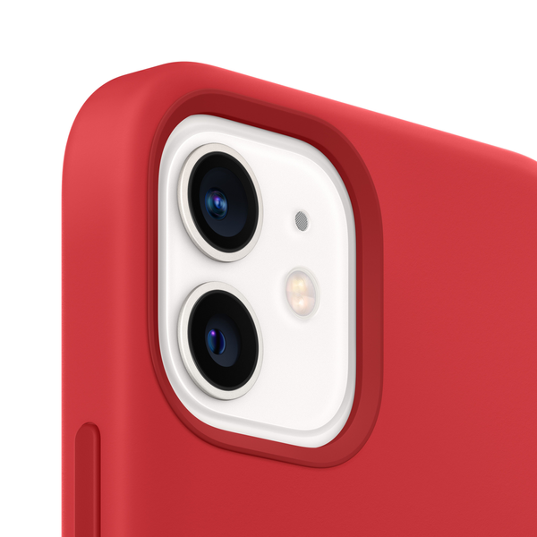 Apple - Apple iPhone 12 | 12 Pro Silicone Case with MagSafe - (PRODUCT)RED
