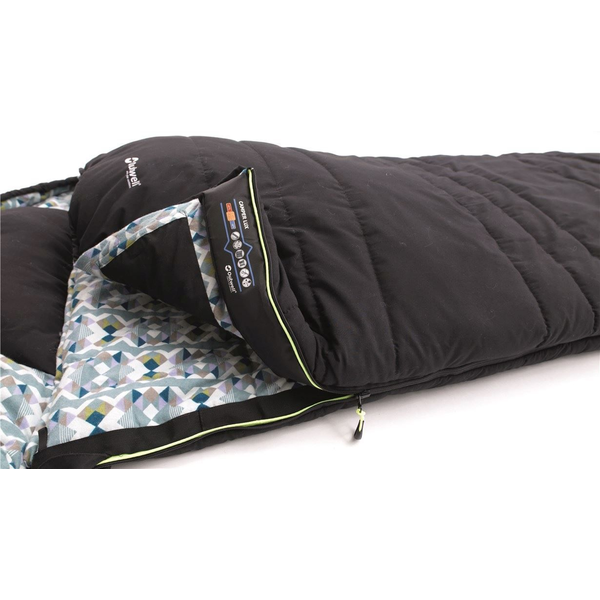 - Outwell Camper Lux Adult Rectangular sleeping bag Cotton, Polycotton, Polyester Black