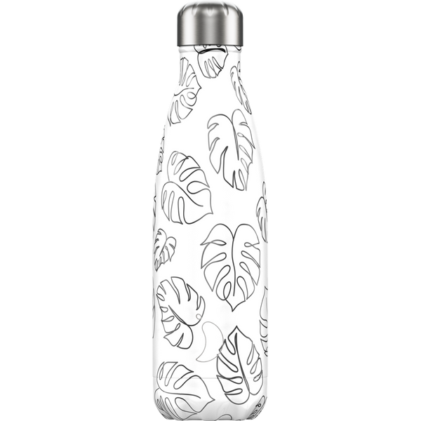 Chilly's - Chilly's Line Art Leaves Daily usage 500 ml Stainless steel Black, White