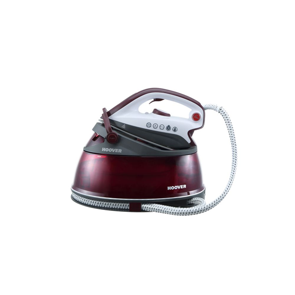 - Hoover Ironvision 2500 W 2 L Ceramic soleplate Burgundy, Transparent, White