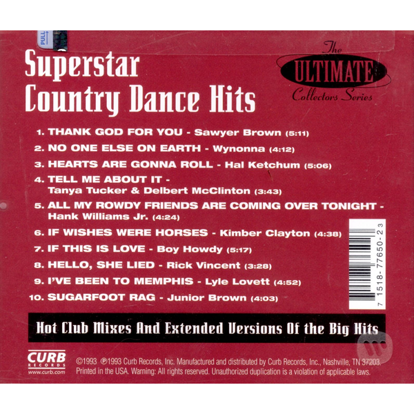 Various Artists - Superstar Country Dance Hits
