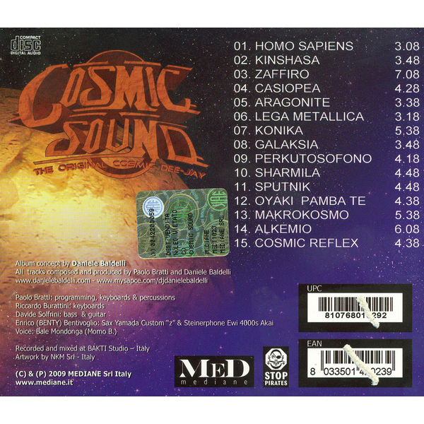 Daniele Baldelli - Cosmic Sound: Another Flying Trip Through the Alchemy of Music