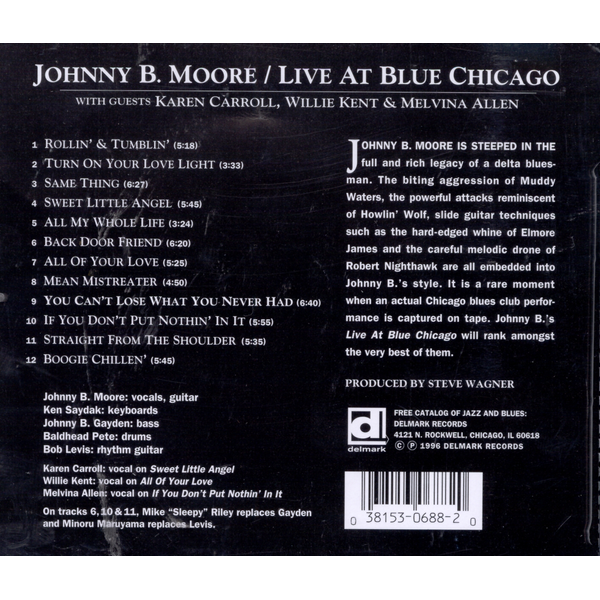 MOORE,JOHNNY B. - Live at Blue Chicago