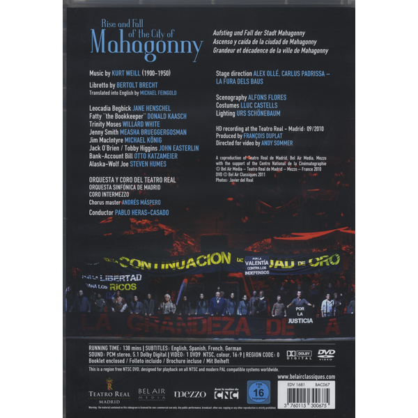 Teatro Real Madrid - Weill: Rise and Fall of the City of Mahagonny [Video]
