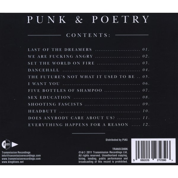 King Blues,The - Punk & Poetry