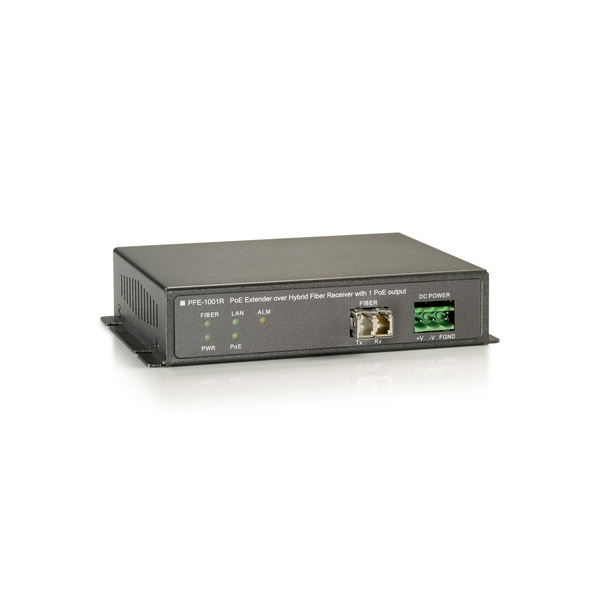 - LevelOne PoE over Hybrid Cable Receiver, 1 PoE Output, Network receiver, 2000 m, 100 Mbit/s, Full, Half, 1000 entries, 14880 pps